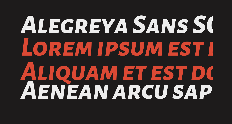 Alegreya Sans SC ExtraBold Italic