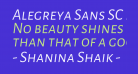 Alegreya Sans SC Italic