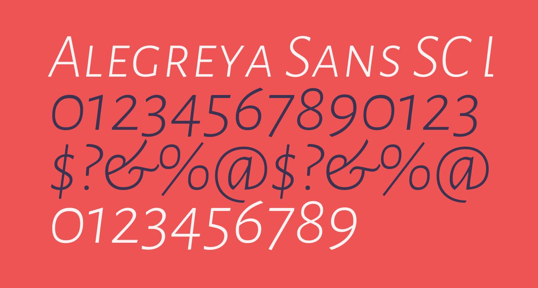 Alegreya Sans SC Light Italic