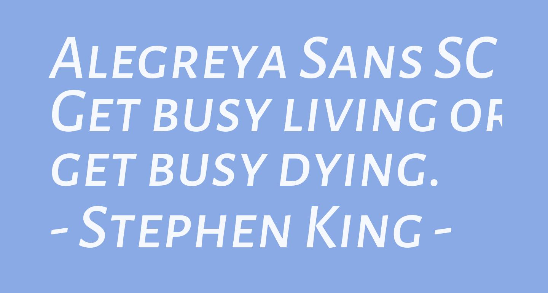 Alegreya Sans SC Medium Italic