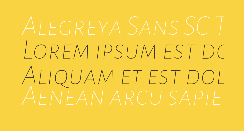 Alegreya Sans SC Thin Italic