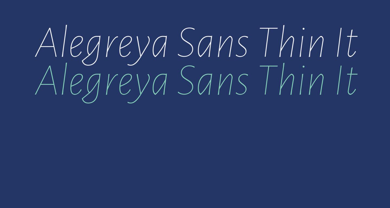 Alegreya Sans Thin Italic