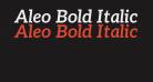 Aleo Bold Italic