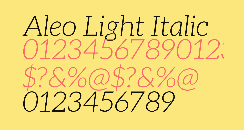 Aleo Light Italic