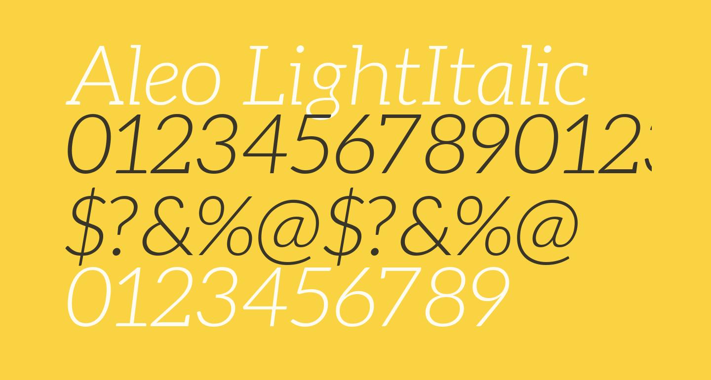 Aleo LightItalic