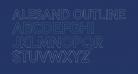 Alesand Outline  Extra Bold
