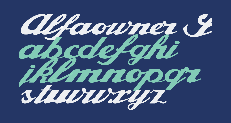 Alfaowner Script Bold Italic