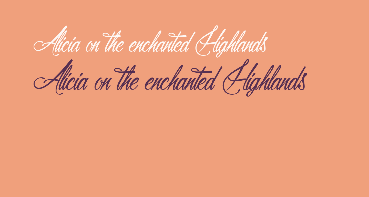 Alicia on the enchanted Highlands
