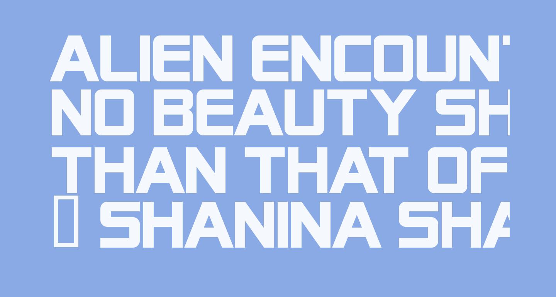 Alien Encounters Solid Bold