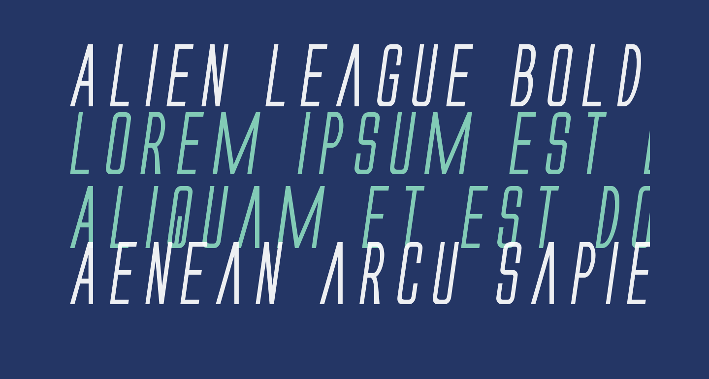 Alien League Bold Italic