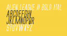 Alien League II Bold Italic