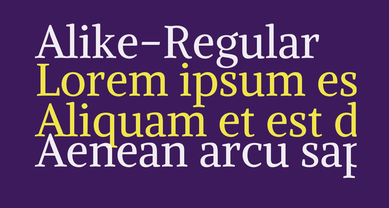 Alike-Regular
