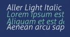 Aller Light Italic
