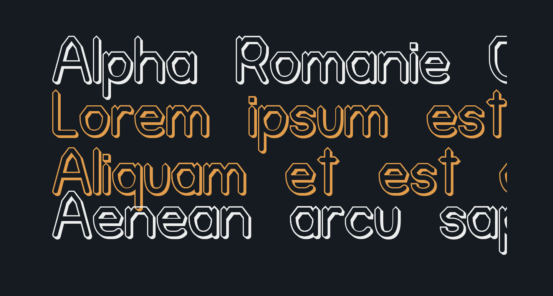Alpha Romanie Outline G98