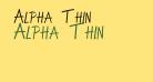 Alpha Thin