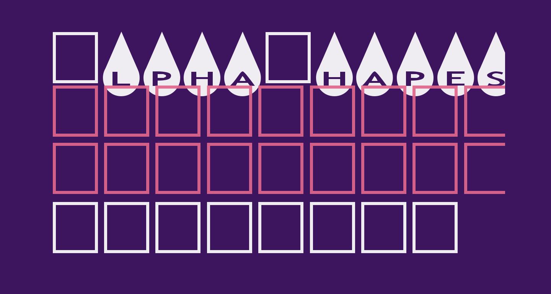AlphaShapes raindrops
