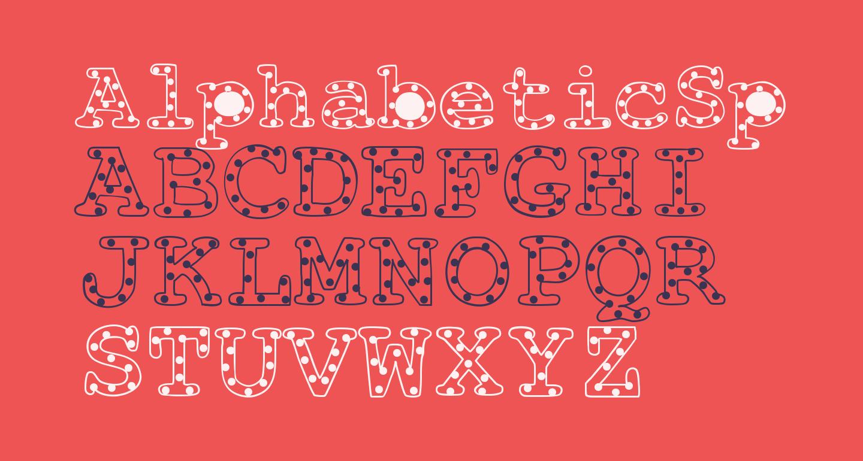 AlphabeticSprinkles