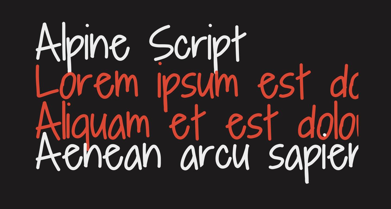 Alpine Script