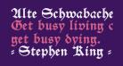 Alte Schwabacher OSF DemiBold
