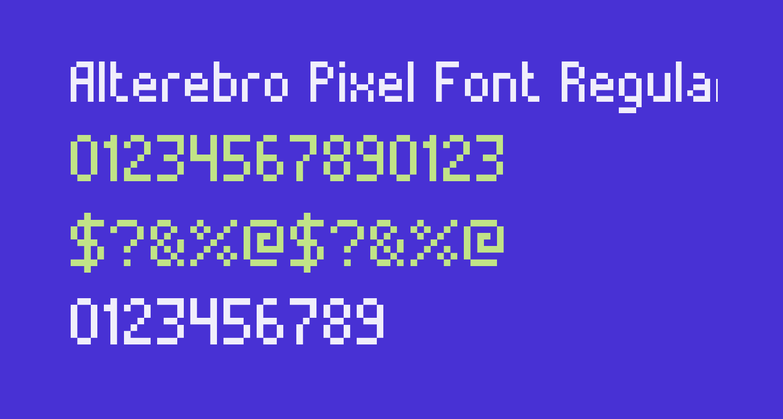 Alterebro Pixel Font Regular