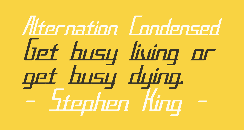 Alternation Condensed Italic