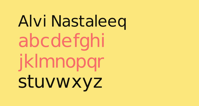 Alvi Nastaleeq