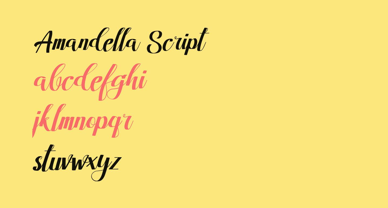 Amandella Script