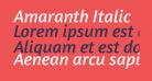 Amaranth Italic
