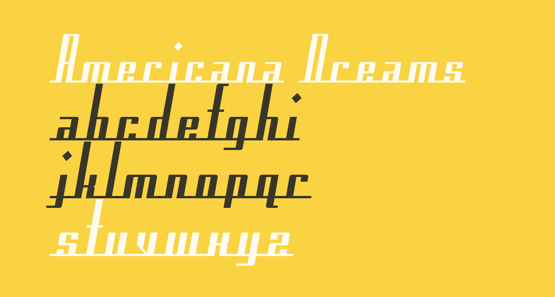 Americana Dreams