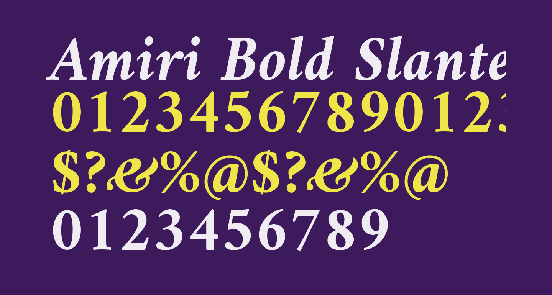 Amiri Bold Slanted
