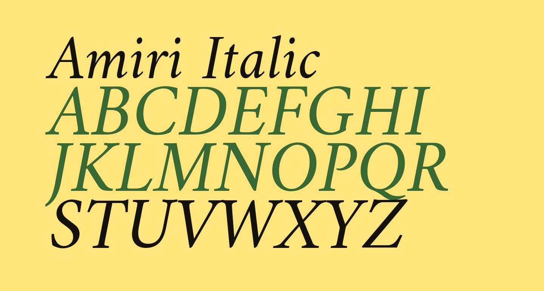 Amiri Italic