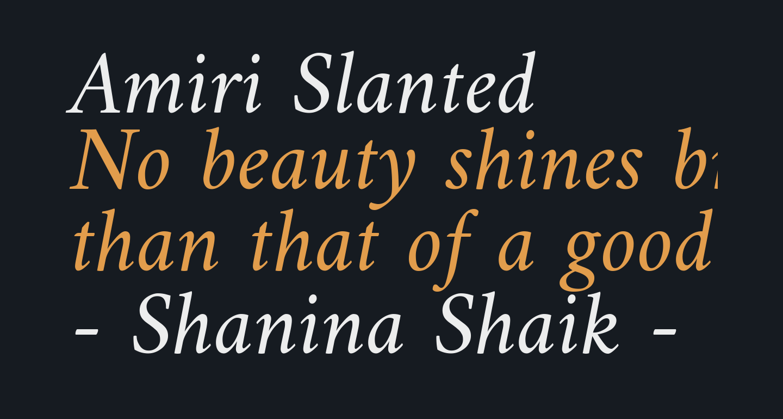 Amiri Slanted