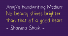 Amy's handwriting Medium