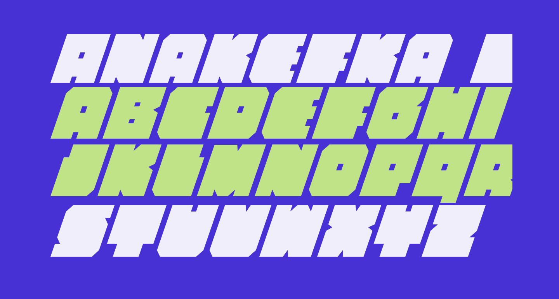 Anakefka Condensed Italic