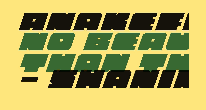 Anakefka Expanded Italic