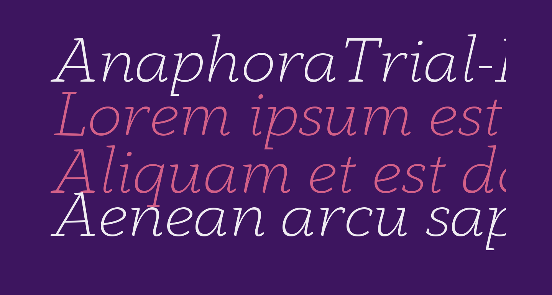 AnaphoraTrial-ExtraLightItalic