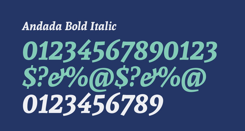 Andada Bold Italic