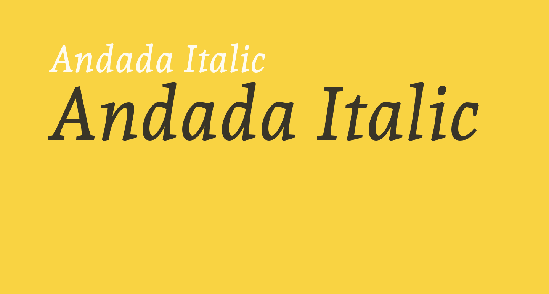 Andada Italic