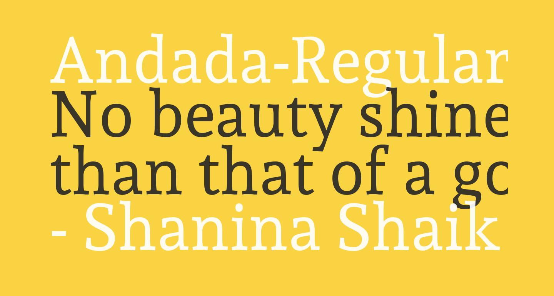 Andada-Regular