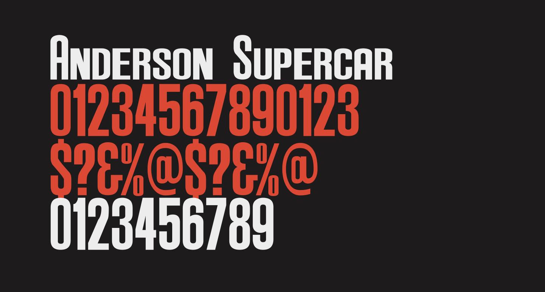 Anderson Supercar