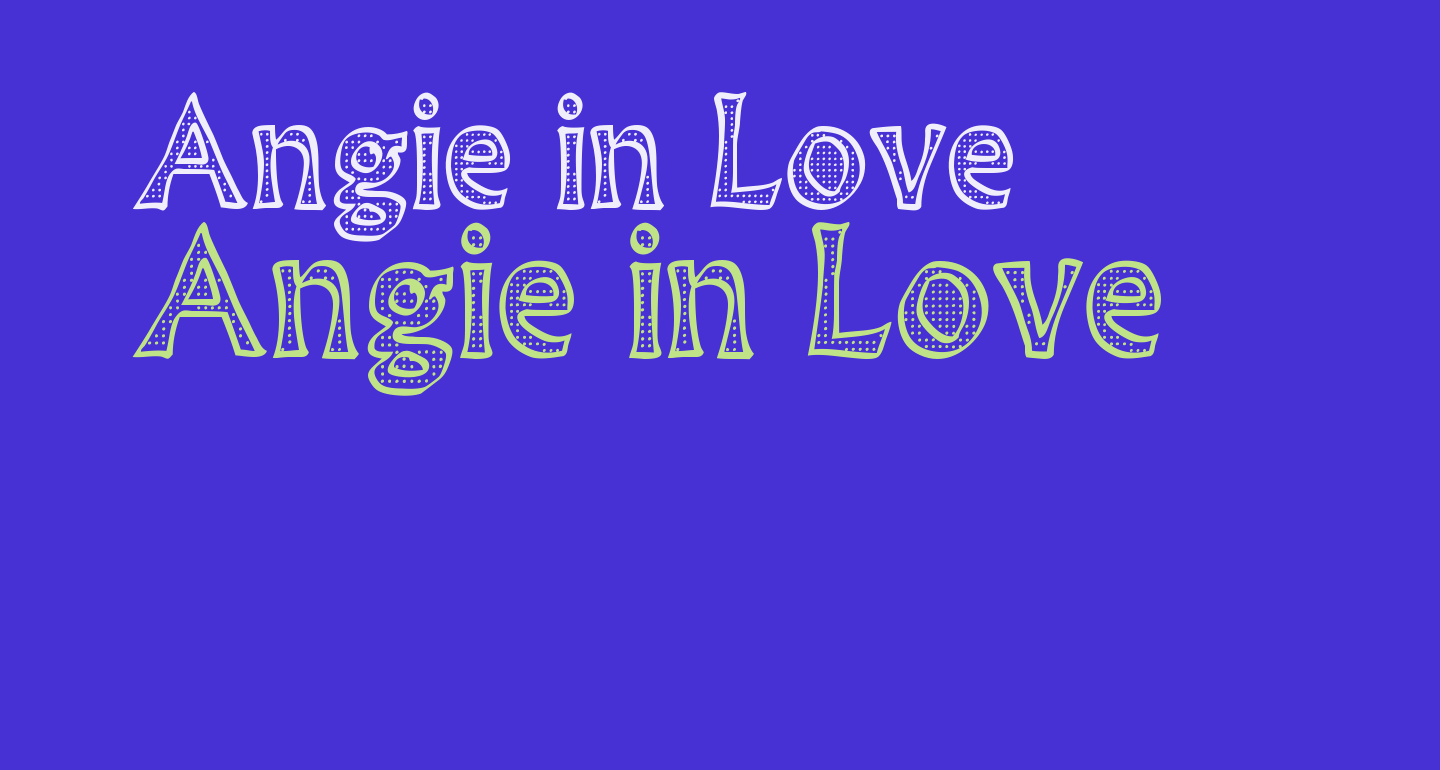 Angie in Love