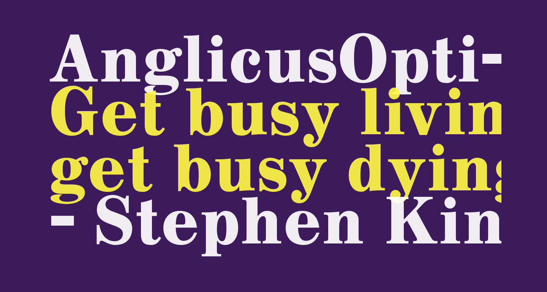 AnglicusOpti-Bold