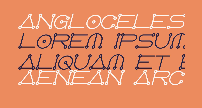 AngloCelestial Bold Italic