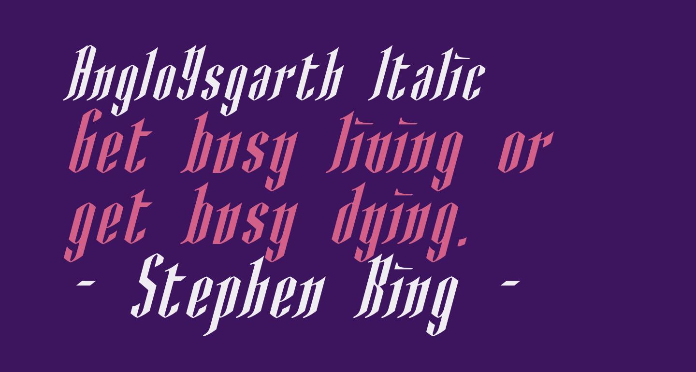 AngloYsgarth Italic