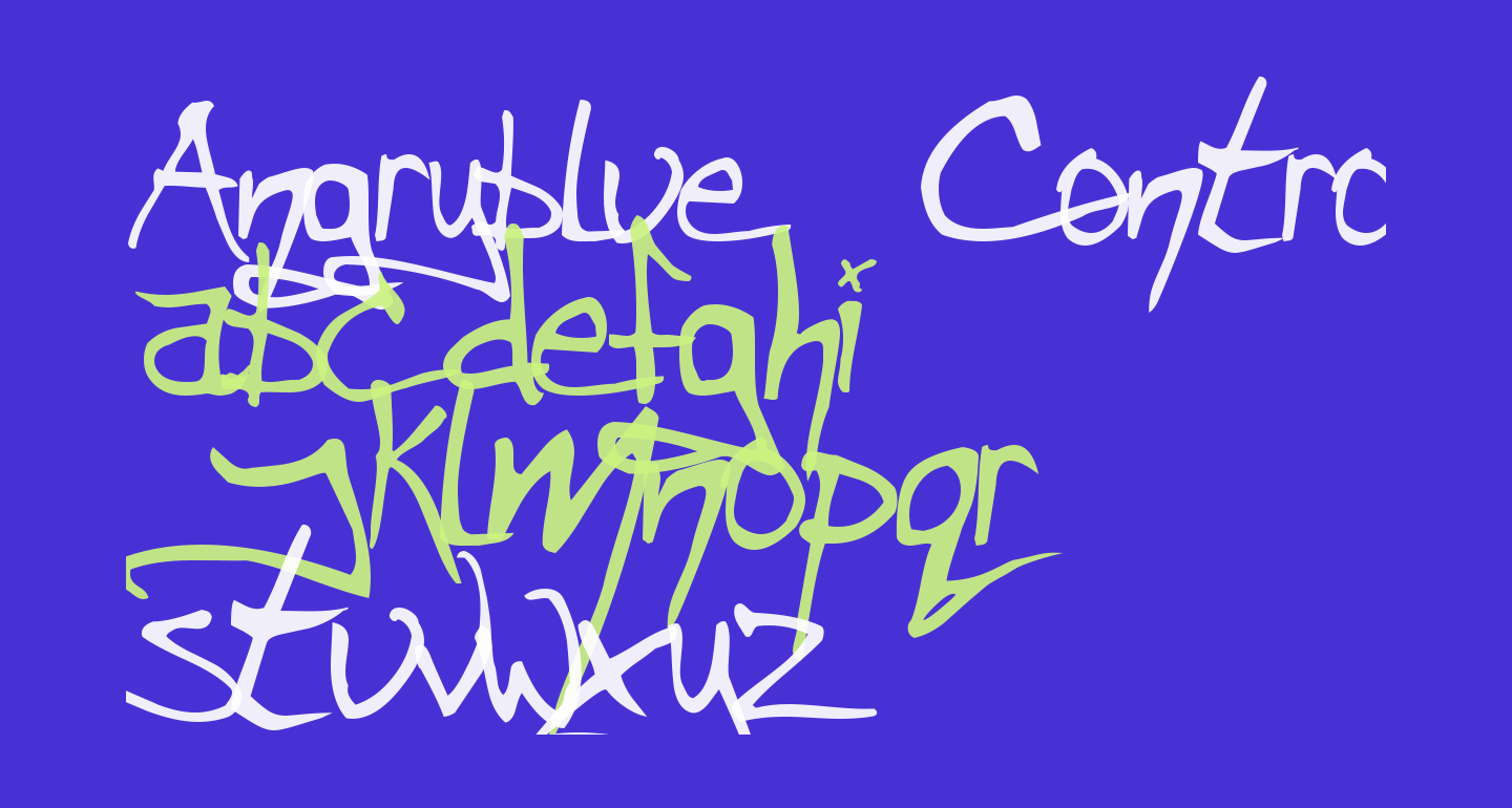 Angryblue  Controlled