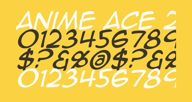 Anime Ace 2.0 BB Italic