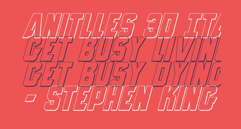 Anitlles 3D Italic