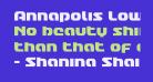 Annapolis Lower Case Condensed