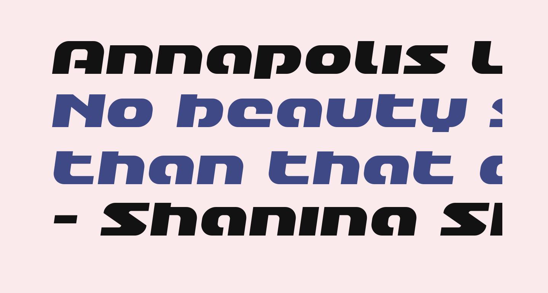 Annapolis Lower Case Semi-Italic