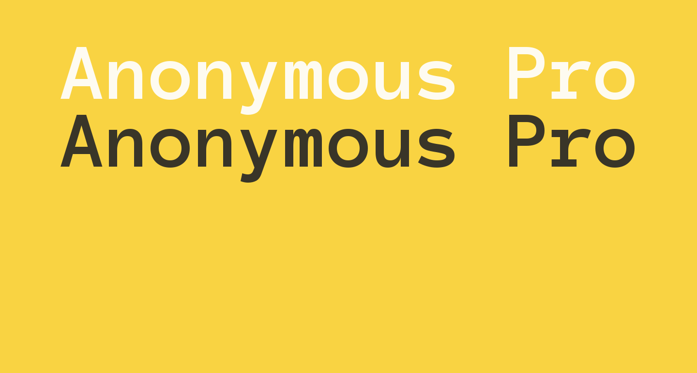 Anonymous Pro Bold